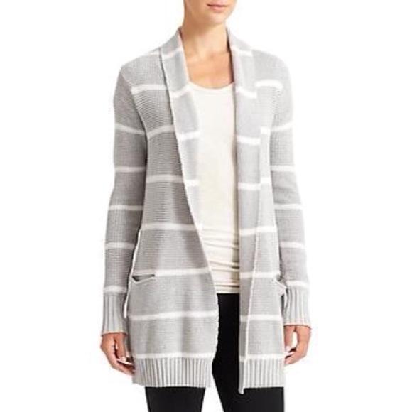 c19a82df9f Athleta Sweaters - Athleta Striped Knit Open Cardigan